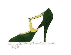 Shoe, c.1955 (Green and Yellow) by Andy Warhol