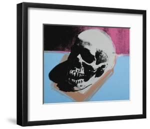 Skull, c.1976 (White on Blue and Pink) by Andy Warhol