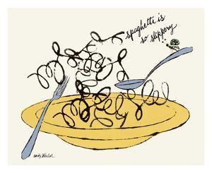 Spaghetti is So Slippery, c. 1958 by Andy Warhol