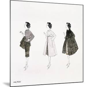 Three Female Fashion Figures, c. 1959 by Andy Warhol