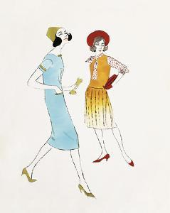 Two Female Fashion Figures, c. 1960 by Andy Warhol