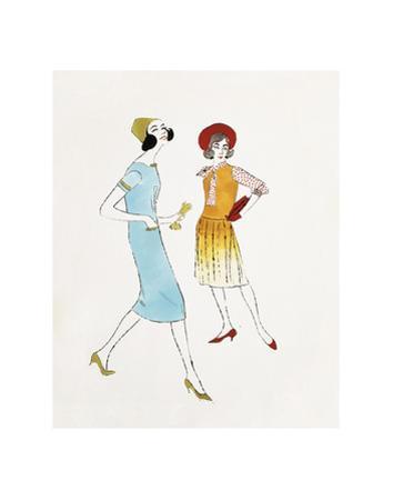 Untitled (Two Female Fashion Figures), c. 1960