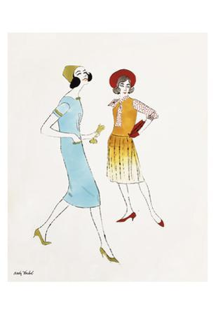 Untitled (Two Female Fashion Figures), c. 1960
