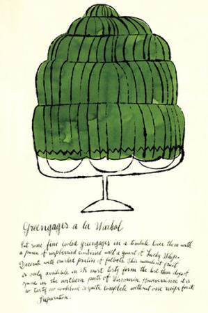 Wild Raspberries by Andy Warhol and Suzie Frankfurt, 1959 (green)