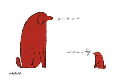 You Are So Little And You Are So Big, c. 1958 by Andy Warhol