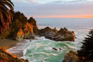 Mcway Falls in Big Sur at Sunset, California by Andy777