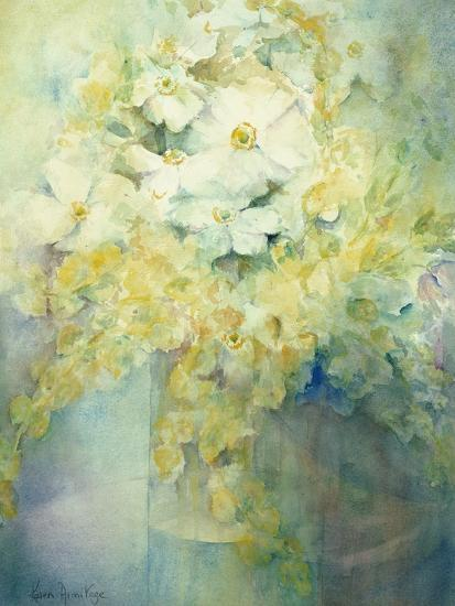 Anemone Japonica - White Queen and Molu-Karen Armitage-Giclee Print