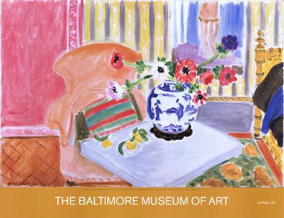 Anemones and Chinese Vase-Henri Matisse-Collectable Print