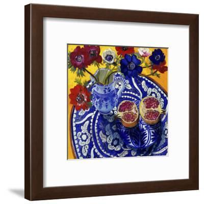 Anemones and Pomegranate (Anemones et Grenade)-Isy Ochoa-Framed Giclee Print