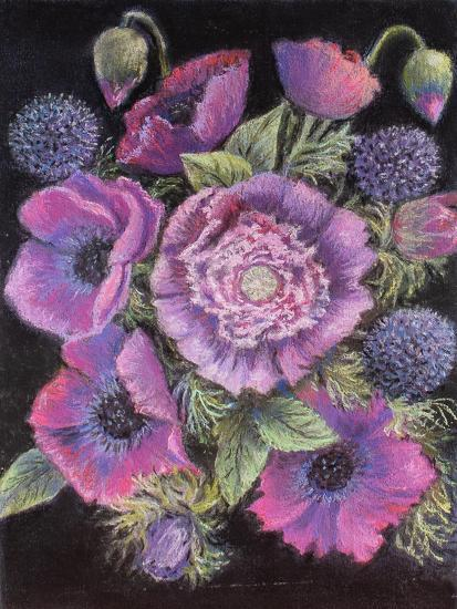 Anemones and thistles, 1998--Giclee Print