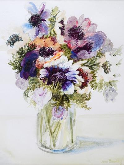 Anemones in a Glass Jug, 2000-Joan Thewsey-Giclee Print
