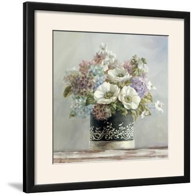 Anemones in Black and White Hatbox-Danhui Nai-Framed Photographic Print