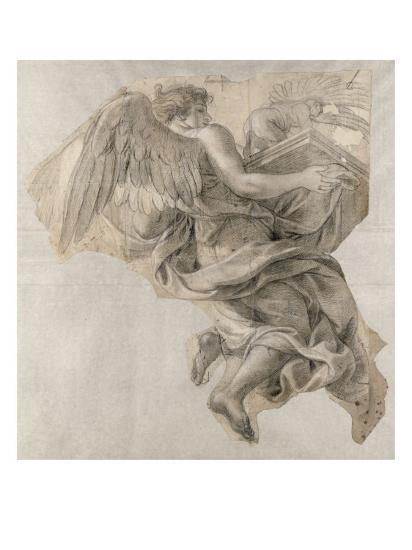 Ange emportant l'Arche d'alliance-Charles Le Brun-Giclee Print