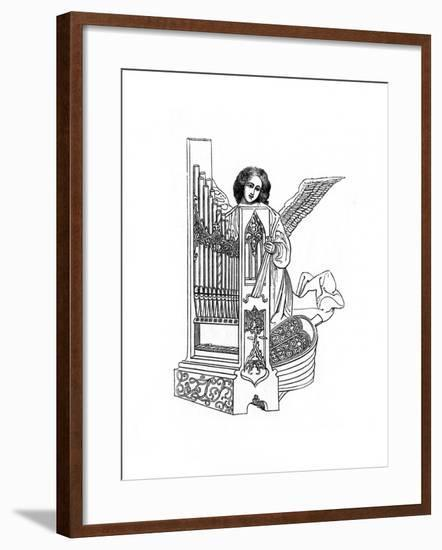 Angel and Organ, Early 16th Century-Henry Shaw-Framed Giclee Print