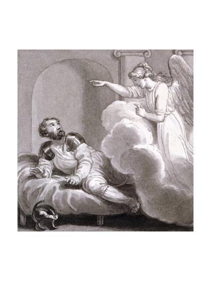 Angel Appearing to Cornelius, C1810-C1844-Henry Corbould-Giclee Print