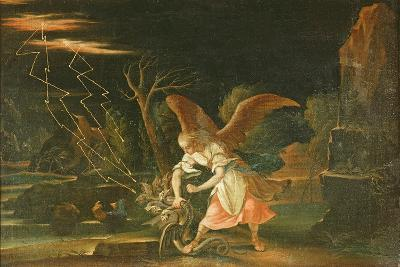 Angel Chaining the Dragon from Hell--Giclee Print