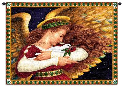 Angel Dove-Lynn Bywaters-Wall Tapestry