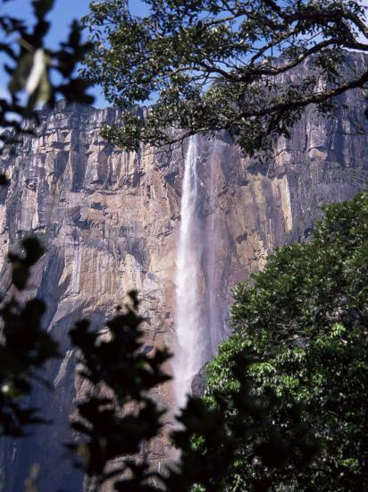 Angel Falls, Canaima National Park, Unesco World Heritage Site, Venezuela, South America-Charles Bowman-Photographic Print