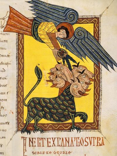 Angel Fighter, Miniature from Review of the Apocalypse of Saint Beatus of Liebana--Giclee Print