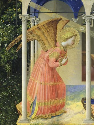 Angel Gabriel, from the Annunciation, 1430-35 Altarpiece-Fra Angelico-Giclee Print