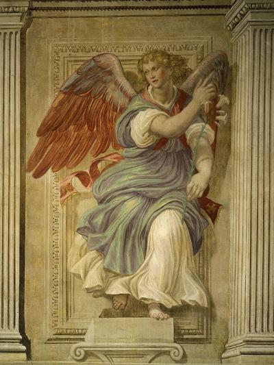 Angel Gabriel of the Annunciation, Fresco, Library-Francesco De Rossi Salviati Cecchino-Giclee Print