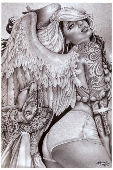 Angel Girl-Mouse Lopez-Art Print