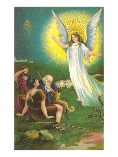 Angel Greeting Shepherds--Art Print