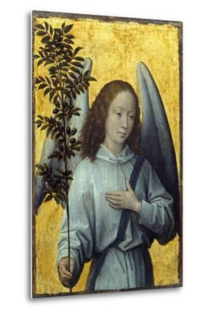 Angel Holding an Olive Branch by Hans Memling--Metal Print
