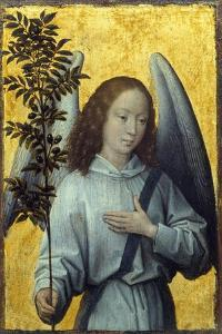 Angel Holding an Olive Branch by Hans Memling