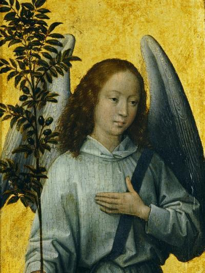 Angel Holding an Olive Branch, Symbol of Divine Peace-Hans Memling-Giclee Print