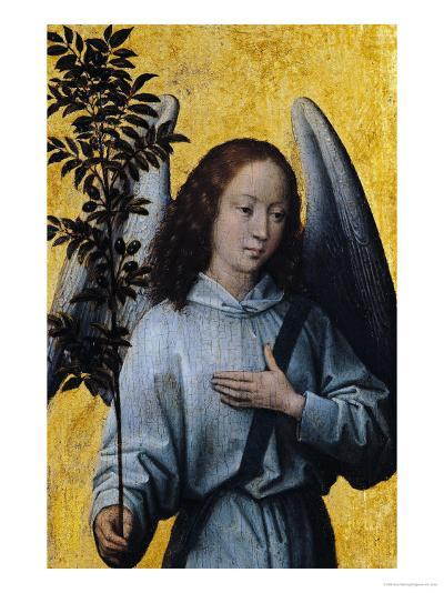 Angel Holding an Olive Branch-Hans Memling-Giclee Print