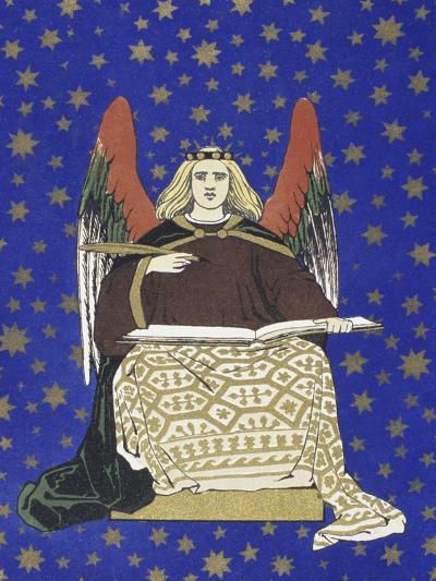 Angel Holding Book--Giclee Print