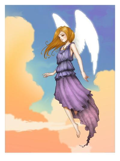 Angel In The Clouds-Harry Briggs-Giclee Print