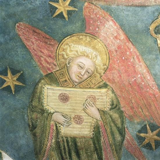 Angel Musician Playing a Psaltery, Detail from the Vault of the Crypt--Giclee Print