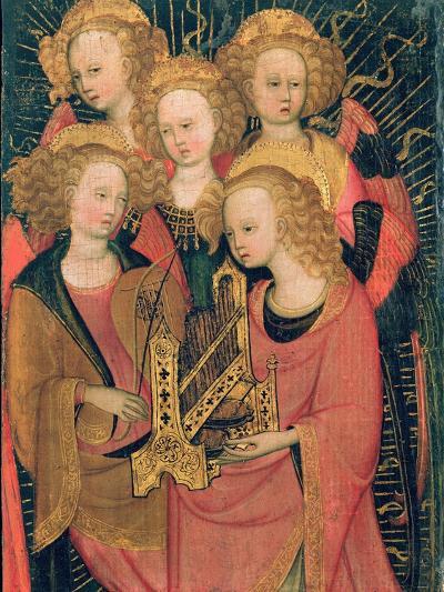 Angel Musicians (Oil on Panel)-Stefano di Giovanni da Verona-Giclee Print