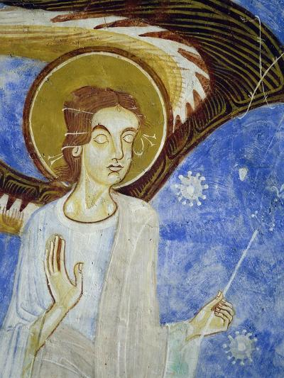 Angel, North Figure, Detail of Western Arm of Frescoed Stone Cross--Giclee Print