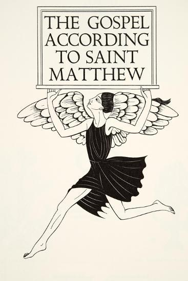 Angel of St. Matthew, 1931-Eric Gill-Giclee Print