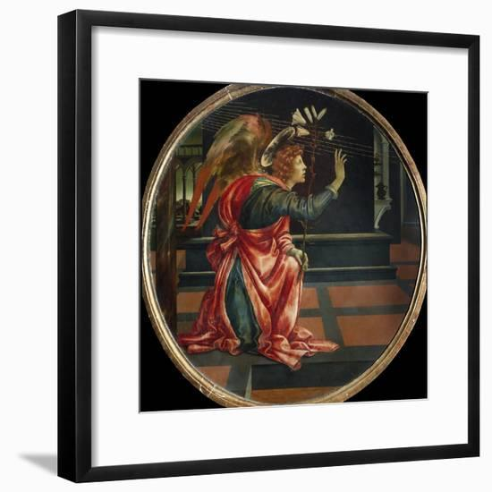 Angel of the Annunciation, by Filippino Lippi-Filippino Lippi-Framed Photographic Print