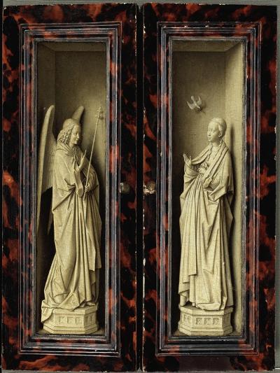 Angel of the Annunciation-Jan van Eyck-Giclee Print