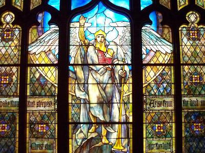 Angel of the Resurrection Stained Glass Window-Louis Comfort Tiffany-Photographic Print