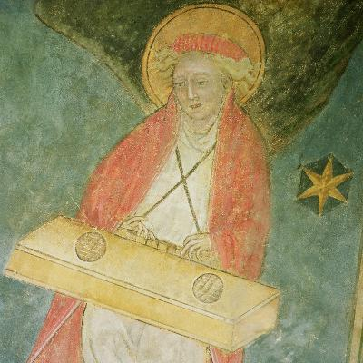 Angel Playing a Clavichord, Detail from the Vault of the Crypt--Giclee Print