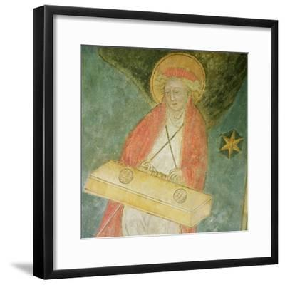Angel Playing a Clavichord, Detail from the Vault of the Crypt--Framed Giclee Print