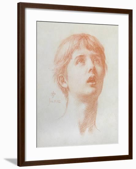 Angel's Head - Study for the Mosaic in St Paul's, 1882-Edward John Poynter-Framed Giclee Print