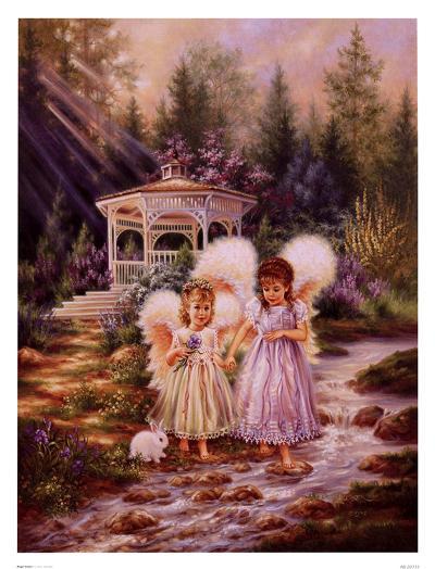 Angel Sisters-Dona Gelsinger-Art Print