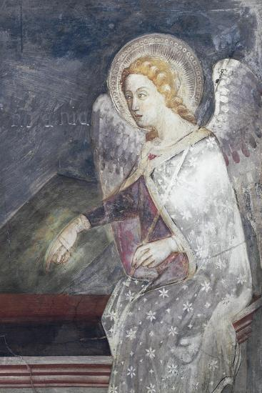 Angel Sitting on Sepulchre, Detail from Le Marie Al Sepolcro--Giclee Print