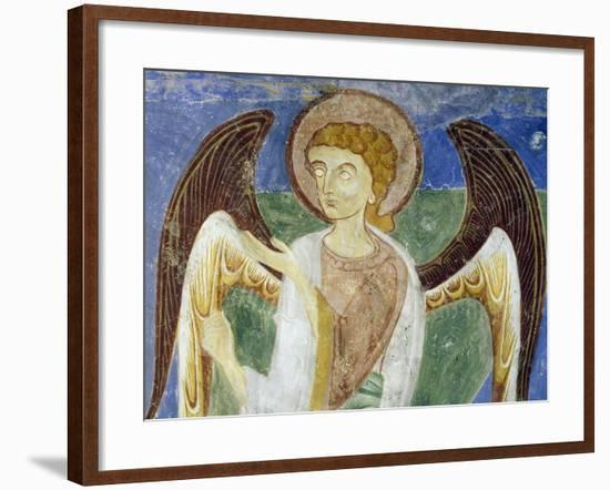 Angel, Southern Figure, Detail of in Eastern Arm of Frescoed Stone Cross--Framed Giclee Print