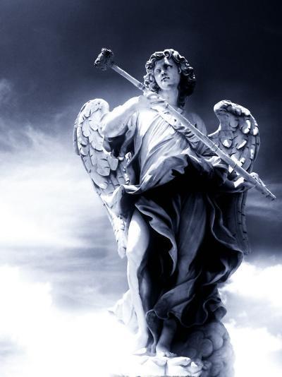 Angel Statue in the Clouds-Abdul Kadir Audah-Photographic Print