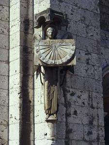 Angel Statue on the Wall of a Cathedral, Notre Dame, Chartres, France