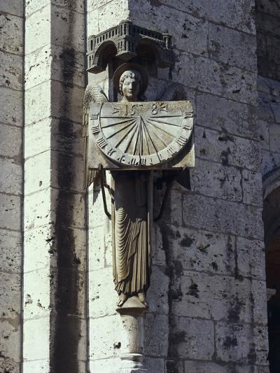 Angel Statue on the Wall of a Cathedral, Notre Dame, Chartres, France--Giclee Print