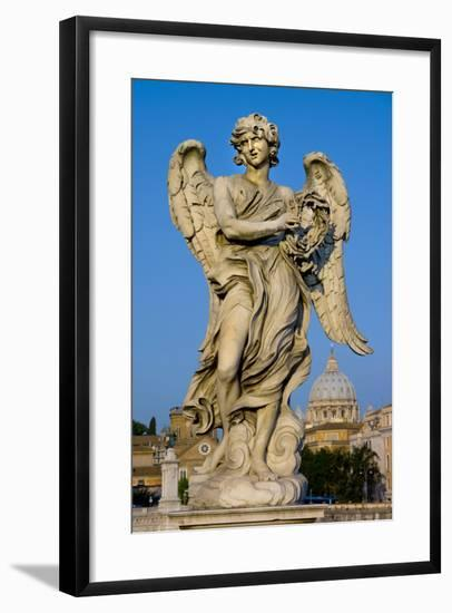 Angel Statue Rome-Charles Bowman-Framed Photographic Print